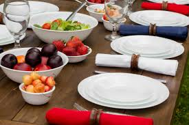 Corelle Outlets Corelle Livingware Durable Glass Dinnerware Winter Frost White