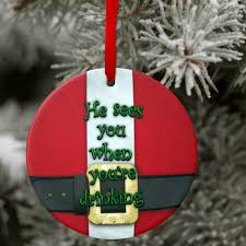 santa suit ornament funny personalized santa christmas ornament