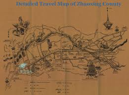Trip Map Detailed Travel Map Of Zhaoxing China