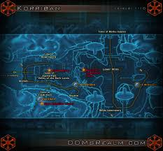 Swtor Map Star Wars Tor Planetary Guide Korriban