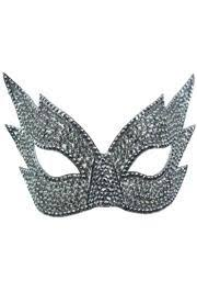 mascarade mask rhinestone silver eye masquerade mask on a stick 8 1 2in wide x