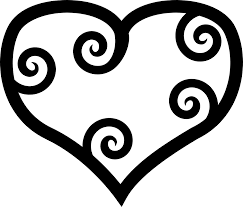 pixabella red maori heart coloring book colouring sheet page