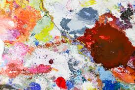 abstract color palette acrylic oil paint abstract art paintin