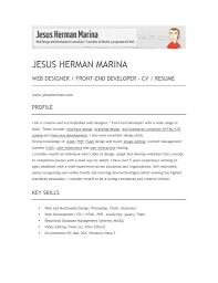 Creative Bartender Resume Template Front End Web Developer Resume Sample Resume For Your Job