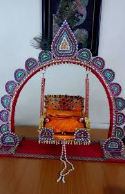 hindu decorations for home janmashtami jhula decoration ideas rangoli pinterest