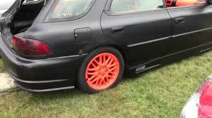 orange subaru impreza subaru impreza wagon boss audio 15 u0027s orange rattle can paint job