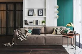 Eclectic Living Room Furniture Living Room Green And Gold Interior With Modern Eclectic Vibe