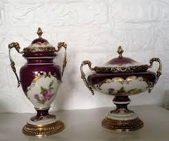 baroque ornamental vases in limoges style a c f mod depo
