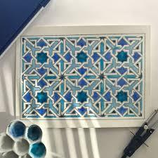 islamic geometric design watercolor islamic geometry pattern