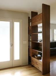bookcase divider foyer houzz