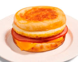Breakfast Sandwich Maker Recipes Egg Ham and Cheese Muffin