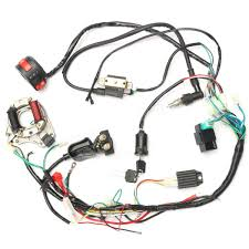 50cc 70cc 90cc 110cc cdi wire harness assembly wiring kit atv
