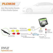 amazon com pyle backup rear view car camera monitor screen system