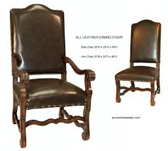 Tuscan Dining Chairs Leather Dining Room Furniture Dining Chairs Old World All Leather