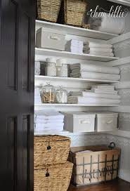 Bathroom Closet Shelves This Look Must Some Sort Of Label On Baskets Home