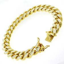silver gold plated bracelet images Shop goldplated sterling silver men 39 s 12mm solid diamond cut miami jpg