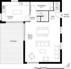 plan de maison 3 chambres salon plan maison 3 chambres et dressing ooreka