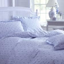 blue camille stripe duvet cover kingsize bed linen