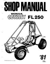 workshopmanual for honda fl250 odyssey 1981 4 stroke net all