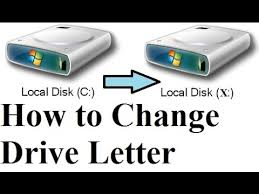 how to change windows drive letter c d using cmd windows
