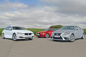 lexus is 250 vs audi s3 bmw 320d vs rivals auto express