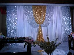 wedding backdrop gold customize item luxurious decoration gold wedding backdrop swag