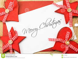 merry greetings card and white stock photo image of