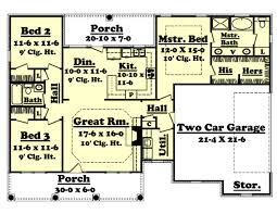 southern house plans with porches southern style house plan 3 beds 2 00 baths 1500 sq ft plan 430 11