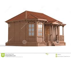3d model of wooden house stock photos image 28055013
