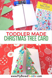 toddler made christmas tree card christmas tree craft and xmas