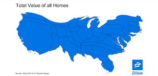 Empty United States Map by This Is What America Looks Like If You Scale Each State To The