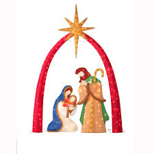 Outdoor Lit Nativity Scene by Upc 029944490357 Trim A Home Outdoor Lighted Chenille Christmas