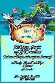 custom invitations peter pan tinkerbell birthday party ebay