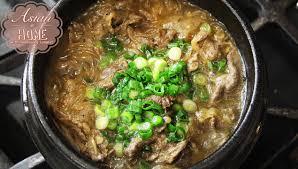 asian at home ttukbaegi bulgogi korean beef stew in clay pot