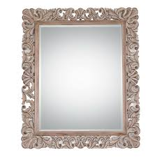shop style selections specialty driftwood beveled wall mirror at