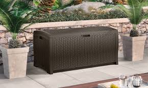 22 off on suncast wicker deck boxes groupon goods
