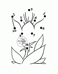 flower easy dot to dot coloring pages for preschoolers connect
