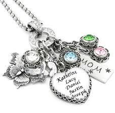 children s birthstone jewelry s heart birthstone necklace grandmother jewelry birthstone