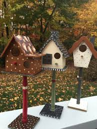 harvest birdhouse thanksgiving decor autumn hand painted decorated
