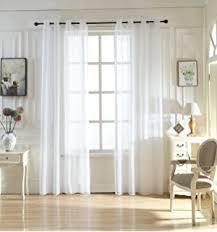 Window Length Curtains Amazon Com Sheer Curtains Home U0026 Kitchen