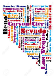 State Of Nevada Map by Word Cloud Map Of Nevada State Royalty Free Cliparts Vectors And