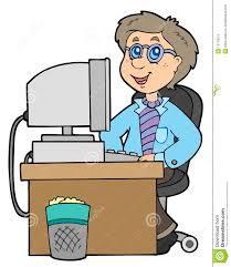 bureau de dessin employé de bureau de dessin animé illustration de vecteur