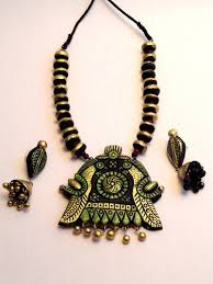 designer terracotta necklace sets manufacturer from thane
