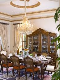 Elegant VictorianStyle Dining Room Designs HGTV - Traditional dining room chandeliers