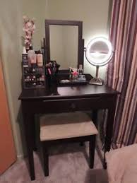 Vanity Makeup Desk With Mirror Annapolis Cherry Wood Makeup Vanity Desk Set With Bench Chair