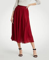 cotton skirt cotton gauze midi skirt