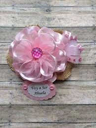 corsage de baby shower pink voy a ser abuela to be baby shower corsage badge