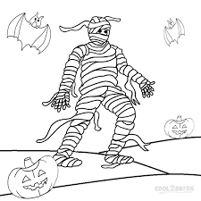 mummy coloring pages getcoloringpages