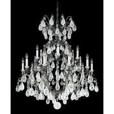 Antique Rock Crystal Chandelier Schonbek 2471 47r Antique Pewter Versailles Rock Crystal