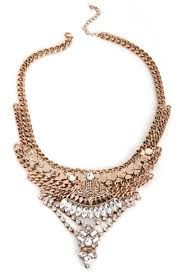 bib necklace gold images Gold boho gems bib necklace jpg